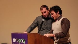 Alex and Lucas presenting