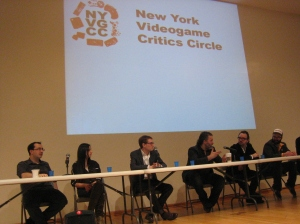 The illustrious panel holds court.