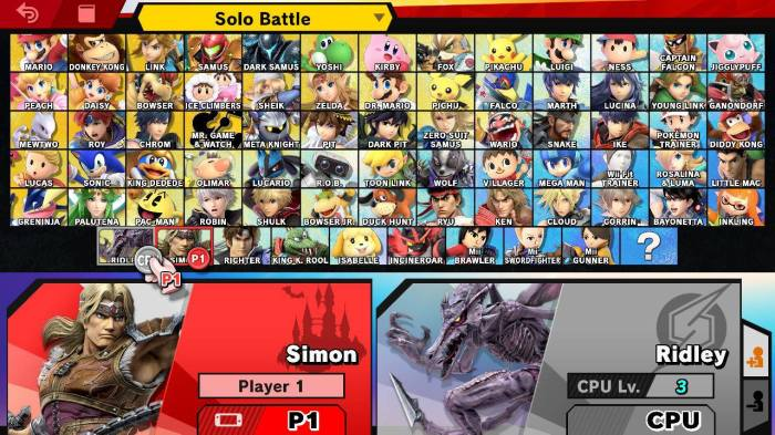 Smash Bros Ultimate CSS