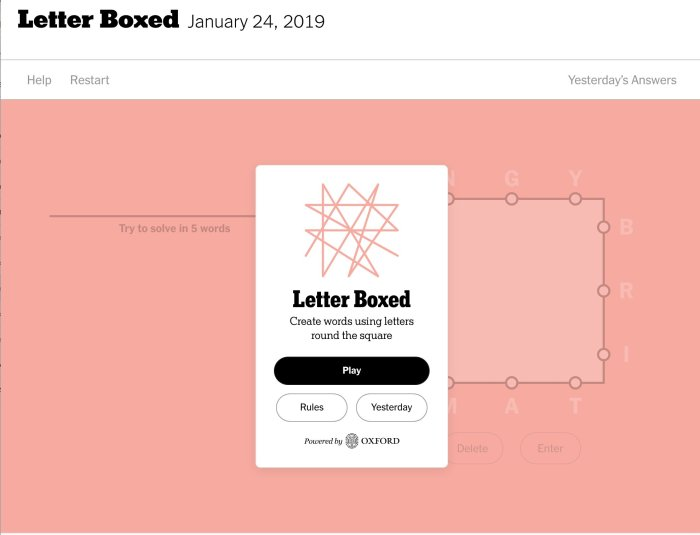 Letter Boxed