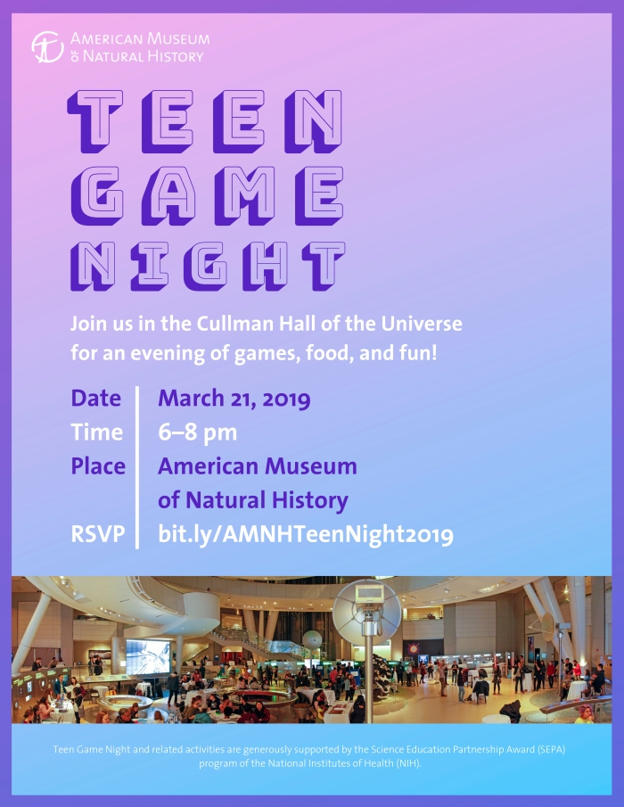 Teen Game Night - FY19 - Mar 21